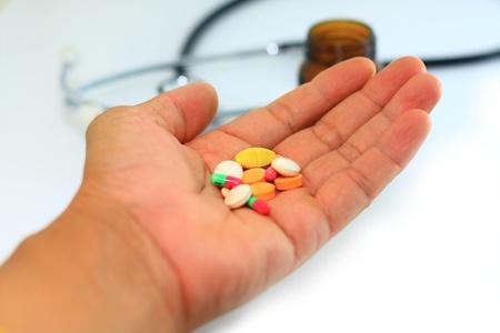 medicine on hand Stock Photo - 9645598