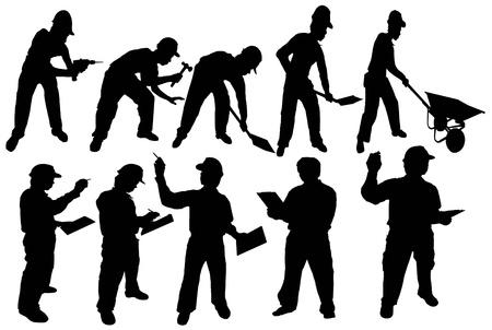 silhouette man worker