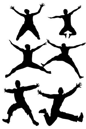silhouette man jumping photo