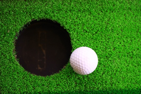 open hole: on green