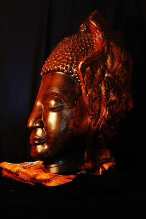 sculp: thai wood buddha sculp ture