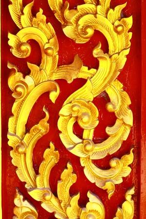 siam: pattern on the door in temple