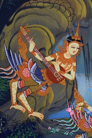on the wall in thai temple