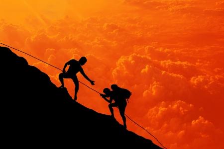 mountain climbing:   destination