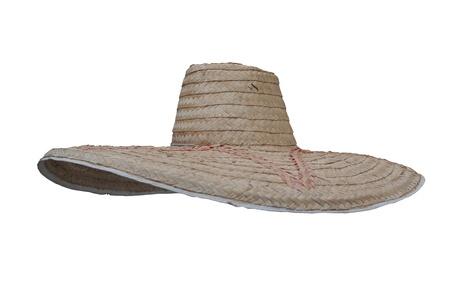 brim: bamboo hat Stock Photo
