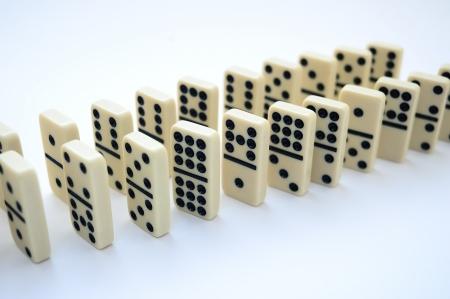 rearrangement: domino game Stock Photo