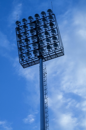 ligth tower in stadium photo