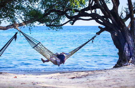 Hammocks on the beach photo