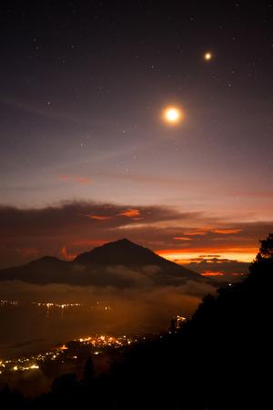 duskiness:  Bali s volcanic moon light over