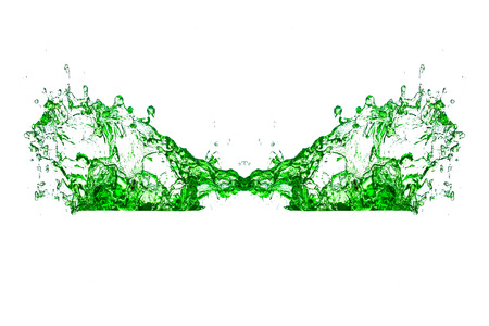 green water splash on a white background  photo