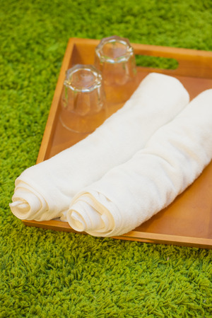 White towel in spa  photo