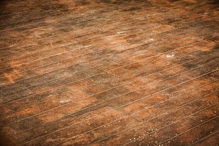 Dirty brown wooden floor Banque d'images