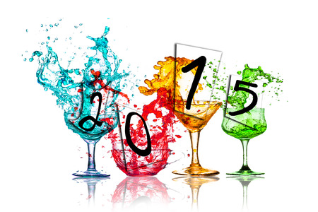 Colorful drinks to celebrate the New Year 2015  photo