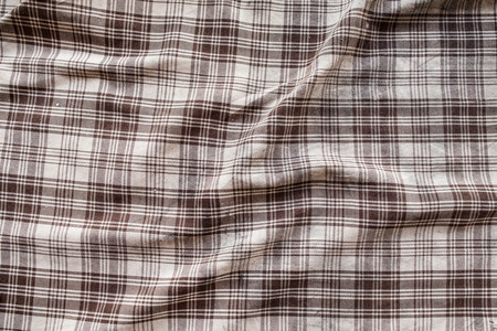 puckered: Scottish fabric wrinkled and puckered Stock Photo