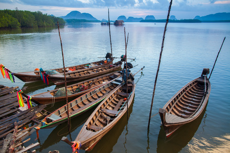 phang nga: The wooden fishing boat in Phang Nga, Thailand.