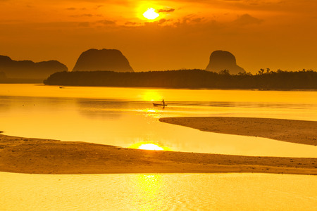phang nga: Morning light islands of Phang Nga in southern Thailand.