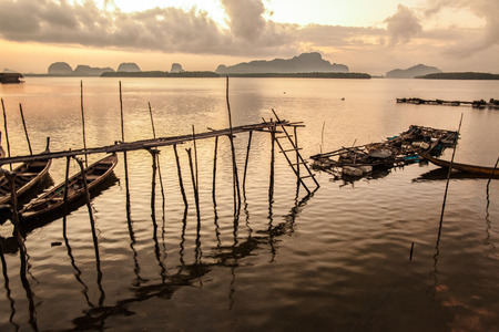 phang nga: The southern fishing village in Phang Nga, Thailand.