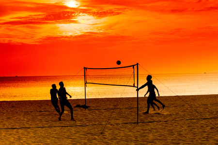 Volley: Sports volley ball on the beach.