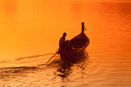 southern of thailand: A fishing boat in southern Thailand. Stock Photo