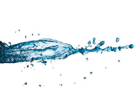 to watersplash: blue watersplash  on a white background.