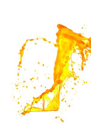 to watersplash: yellow watersplash  on a white background.