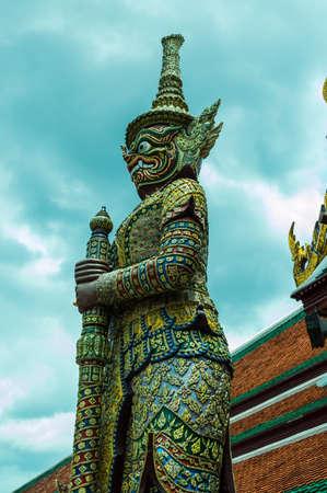kaew: Wat Phra Kaew Bangkok Stock Photo