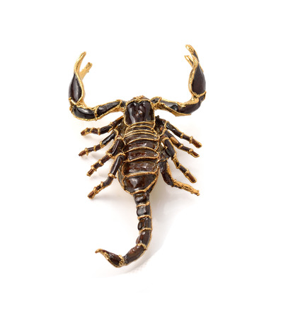 subdue: Scorpion Pandinus imperator isolated on white. No shadow