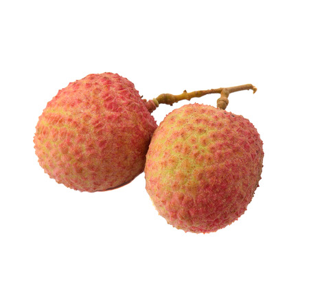 litchi: The lychee (Litchi chinensis) fruit, close up, macro, isolated. Genus Litchi in the soapberry family, Sapindaceae.