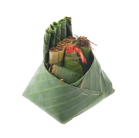 street drug: Betel leaf betel palm edible eating culture of thailand Stock Photo