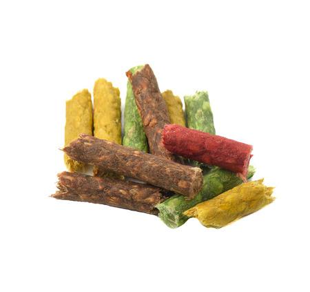 basic care: Colorful dog food Stock Photo