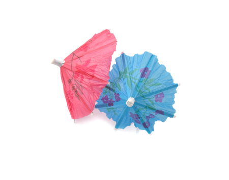 two paper umbrella