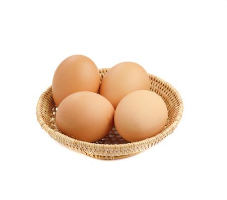 brown eggs: Brown eggs in a basket