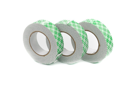 sided: double sided tape on white background