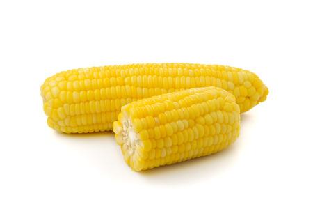 racy: Ripe corn isolated on white background