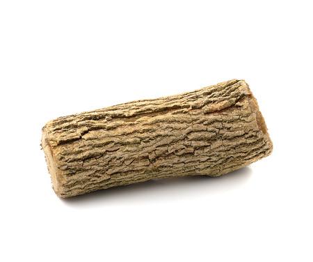 thanaka: Thanaka wood on white background Stock Photo