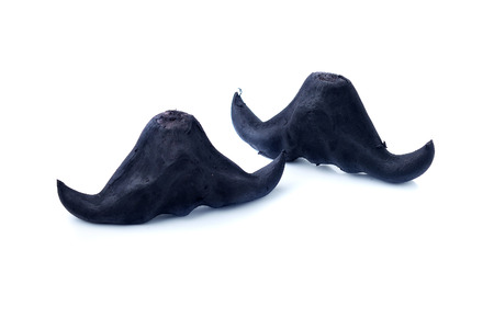 horn like: Water chestnut, Scientific name Trapa bisphinosa Roxb., Fruit shaped like buffalo horn, which has medicinal properties. Stock Photo