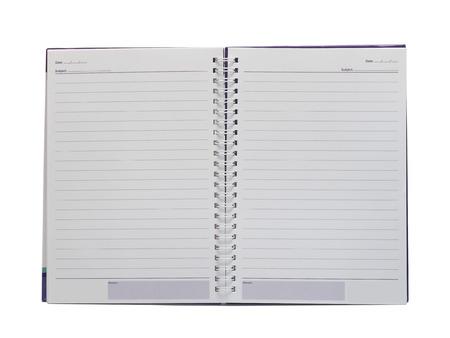 Notebook isolation on white