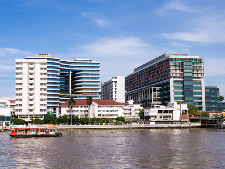 medical school: Siriraj hospital, the first and major hospital and medical school in Thailand, landmark view in Bangkok, under blue sky Editorial