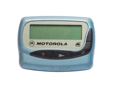 pager: BANGKOK - NOVEMBER 4: Motolora pager was very popular communication device in 90