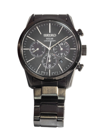 BANGKOK - NOVEMBER 26: Seiko Japan made watch limited edition only 2,500 watches isolated on white background, was taken in Bangkok, Thailand, on November 26, 2014.