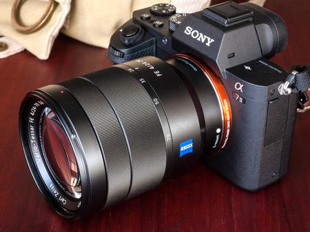 sony 24 70 f4. bangkok - february 19: sony digital camera model a7ii with normal carl zeiss zoom lens 24 70 f4