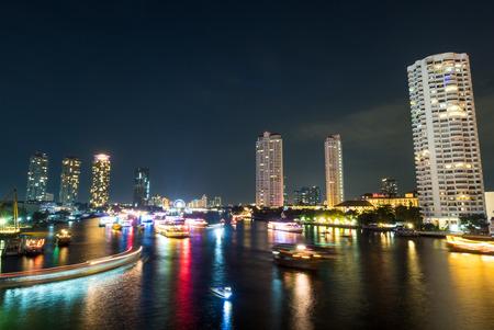 december 31: BANGKOK - DECEMBER 31: Night view in last day of year celebration along Chaophraya river in Bangkok, Thailand, was taken on December 31, 2015.