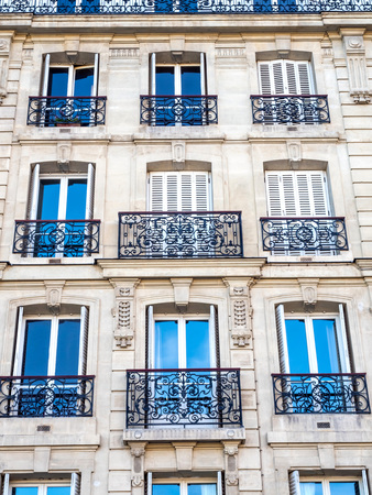 windows and doors: Repetitive design of windows, doors and corridors of building in Paris