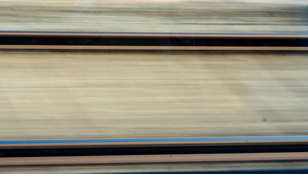 railway track: Railway track movement blurring technique Stock Photo