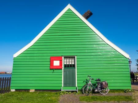 houseman: ZAAN SCHANS - OCTOBER 2: The Historic classic windmill in Zaan Schans named De Huisman (The Houseman), Netherlands, on October 2, 2015.