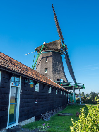 seeker: The historic classic windmill named De Zoeker (The Seeker) in Zaan Schans, Netherlands
