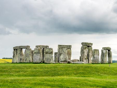 rural development: Stonehenge an ancient prehistoric stone monument near Salisbury, Wiltshire, England Stock Photo