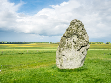 Heel stone is one of important stone in Stonehenge, site in England