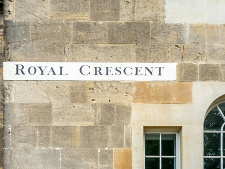 semicircular: BATH - MAY 19 : The Royal Crescent is large semicircular street in Bath, including historic buildings around