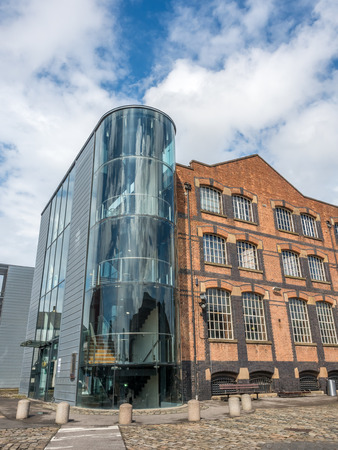 MANCHESTER - MAY 22: Historic buildings of Museum of Science and Industry situated on the site of the world first railway station in Manchester city, England, was taken on May 22, 2016.
